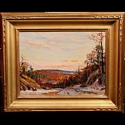 Wayne Beam Morrell Oil Painting - Winter Landscape 1977