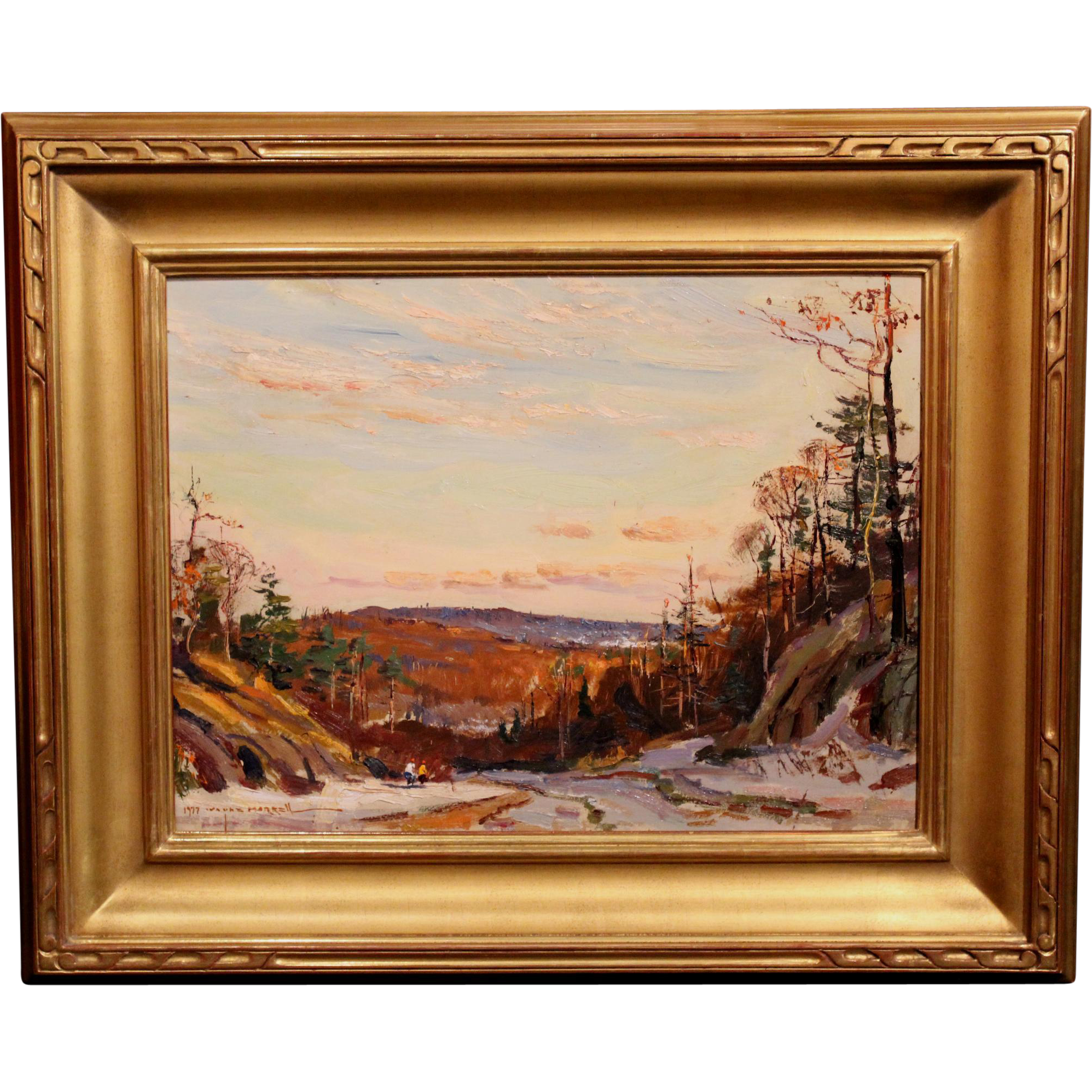Wayne Beam Morrell Oil Painting - Winter Landscape 1977