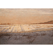 Linden Frederick Oil Painting Winter Landscape - January Thaw