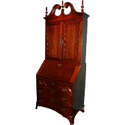 18th c Philadelphia Two Part Chippendale Walnut Bookcase Secretary