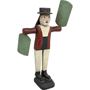 Adolf Haugh Carved Wooden Folk Art Sailor Whirligig 1919