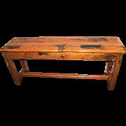 Rare 20th Century Elephant Wood Sofa or Hall Table