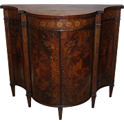 Early 20th c English Mahogany Credenza with Inlaid Decoration