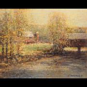 John Charles Terelak Impressionist Oil Painting Summer Country Landscape 1987