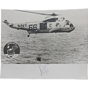 Apollo 11 Astronaut Neil Armstrong Autographed Splashdown Recovery Photograph