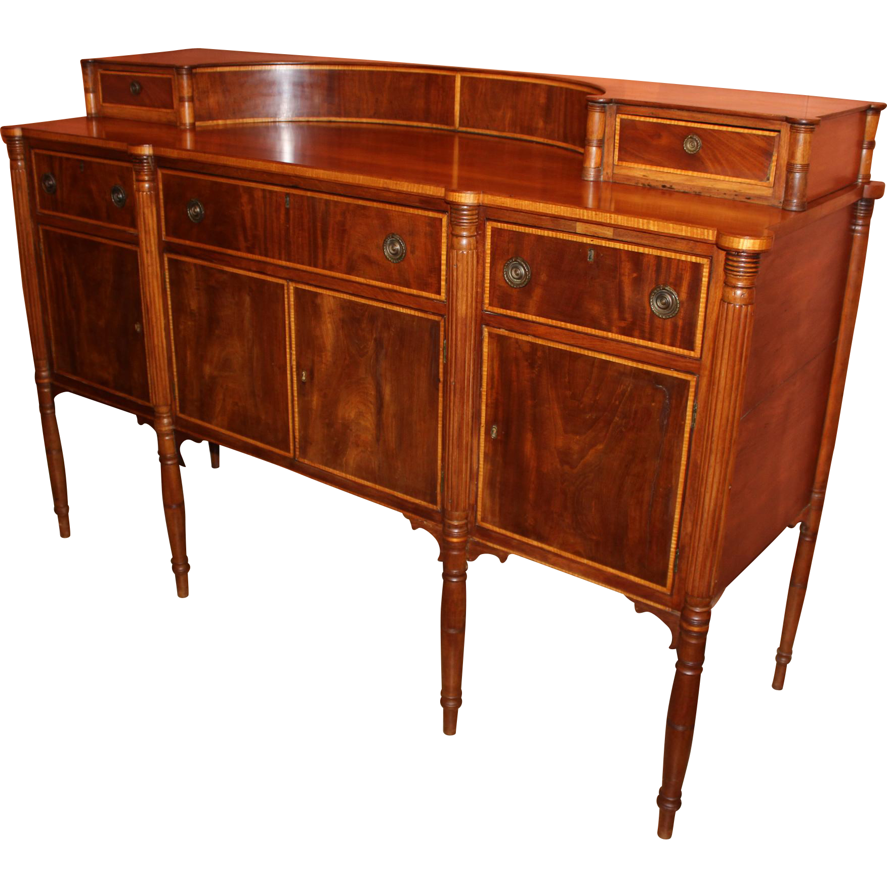 Federal Period Sheraton Sideboard in Cherry and Mahogany