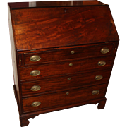 18th c Chippendale Slant Front Desk in Mahogany