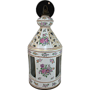French Porcelain Hanging Lantern in the Chinese Export Style