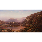 William Louis Sonntag Oil Painting - October in New Hampshire, Near the Foot of Mt. Washington