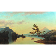 Nelson Augustus Moore Oil Painting - An Afternoon Boating on Lake George, NY, 1867