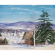 Carl Wuermer Landscape Oil Painting - Winter Silence