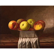 Carducius Plantagenet Ream Oil Painting - Still Life of Apples