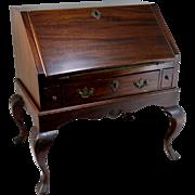 18th / 19th c Georgian Style Miniature Mahogany Desk on Frame