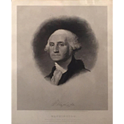 Thomas Welch Engraving of George Washington Published by Childs, 1852
