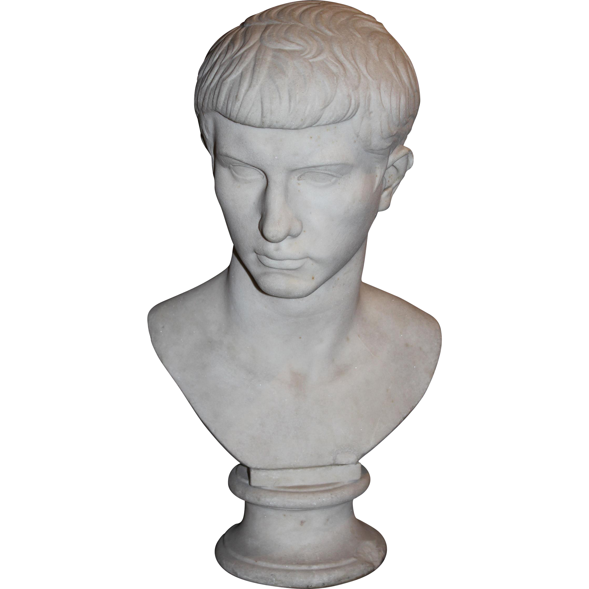 19th Century Grand Tour Marble Bust of Caesar