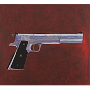 Catherine Newman Oil Painting of an AMT Hardballer Semi Automatic Pistol