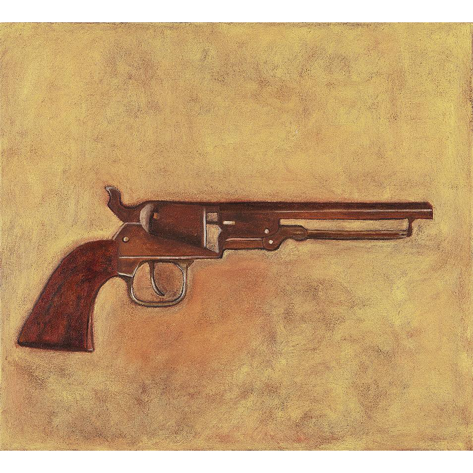 Catherine Newman Oil Painting of a Colt M-1849 Pocket Percussion Revolver