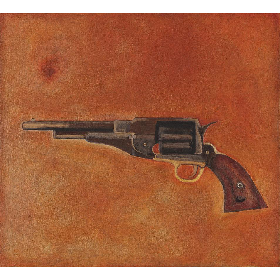 Catherine Newman Oil Painting of a Remington NM Army Revolver