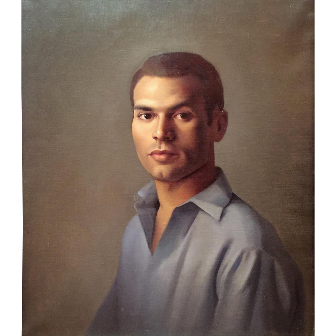 Luigi Lucioni Oil Painting Portrait of a Young Man