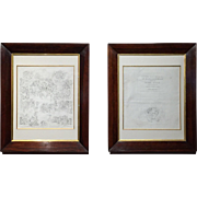 After Michelangelo, Conrad Martin Metz Pair of Prints circa 1810