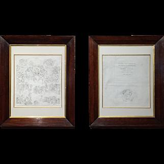 After Michelangelo, Conrad Martin Metz Pair of Prints circa 1810