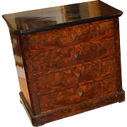 19th c Continental Empire Chest with Ebonized Top