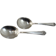 Two 20th c Watson Company Attleboro MA Sterling Silver Serving Spoons