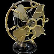 "Menominee ""Staghorn"" Brass 8"" Oscillating Electric Fan"