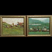 Loretta Feeney Pair of Irish Landscape Oil Paintings