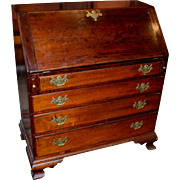 18th Century Chippendale Slant Front Desk with Secret Compartments