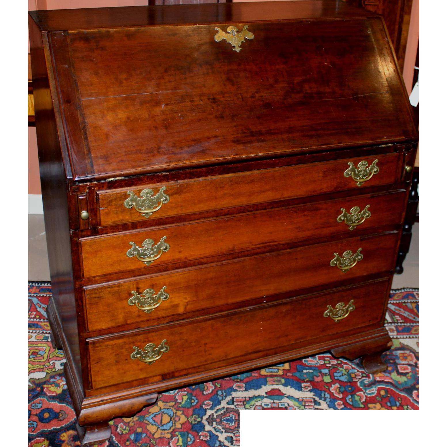 18th Century Chippendale Slant Front Desk With Secret
