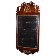 c. 1780 Chippendale Period Wall Mirror