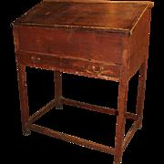18th Century Schoolmaster's Desk in Old Red Paint