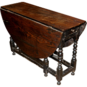 18th / 19th c English Oak Oval Gate Leg Table