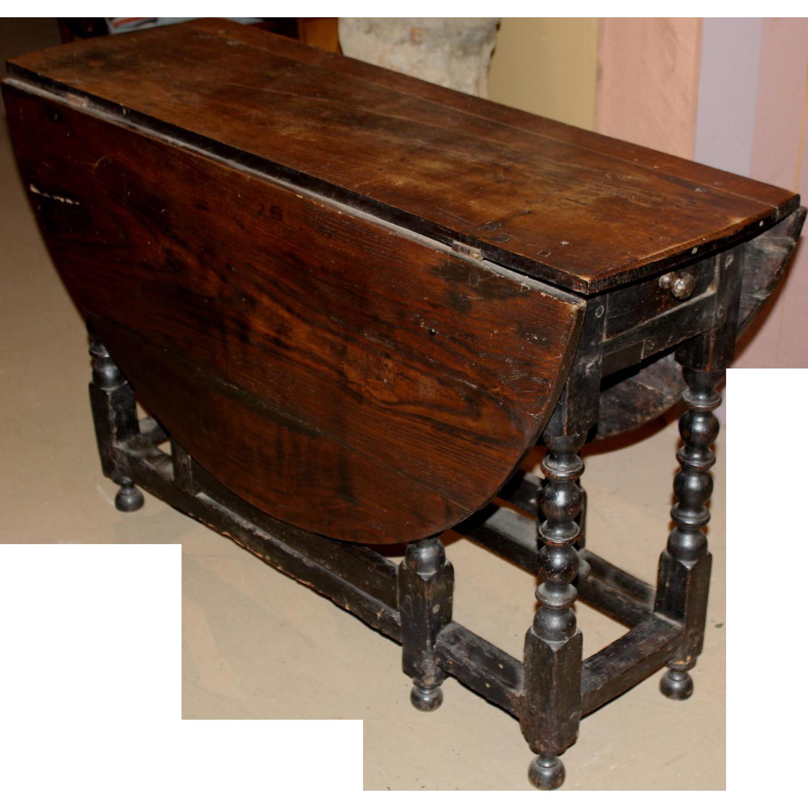 18th / 19th c English Oak Oval Gate Leg Table