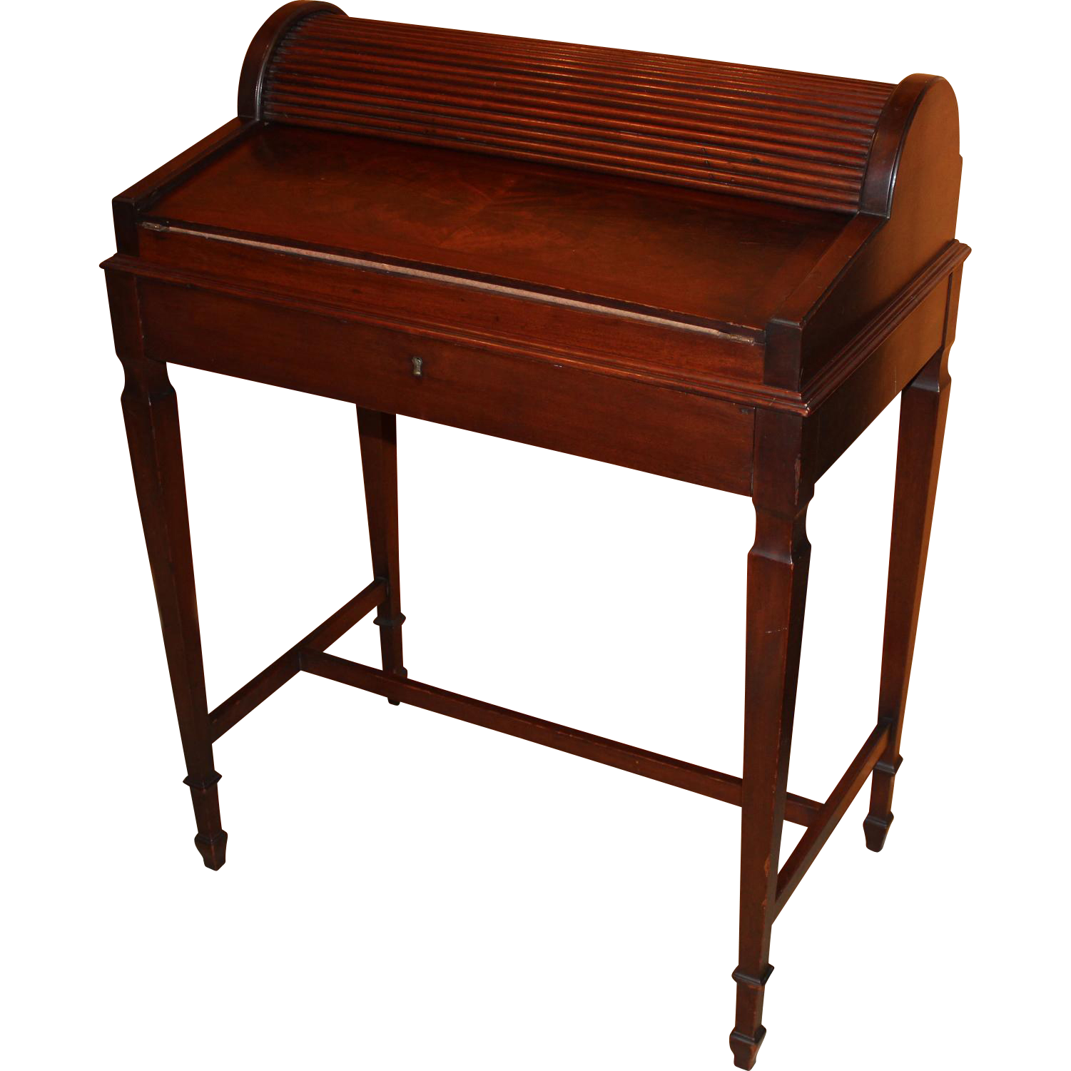 shaw furniture co petite roll top writing desk cambridge ma circa