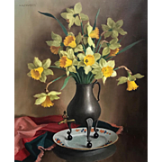 Antonie Althuysen Floral  Oil Painting - Still Life with Daffodils