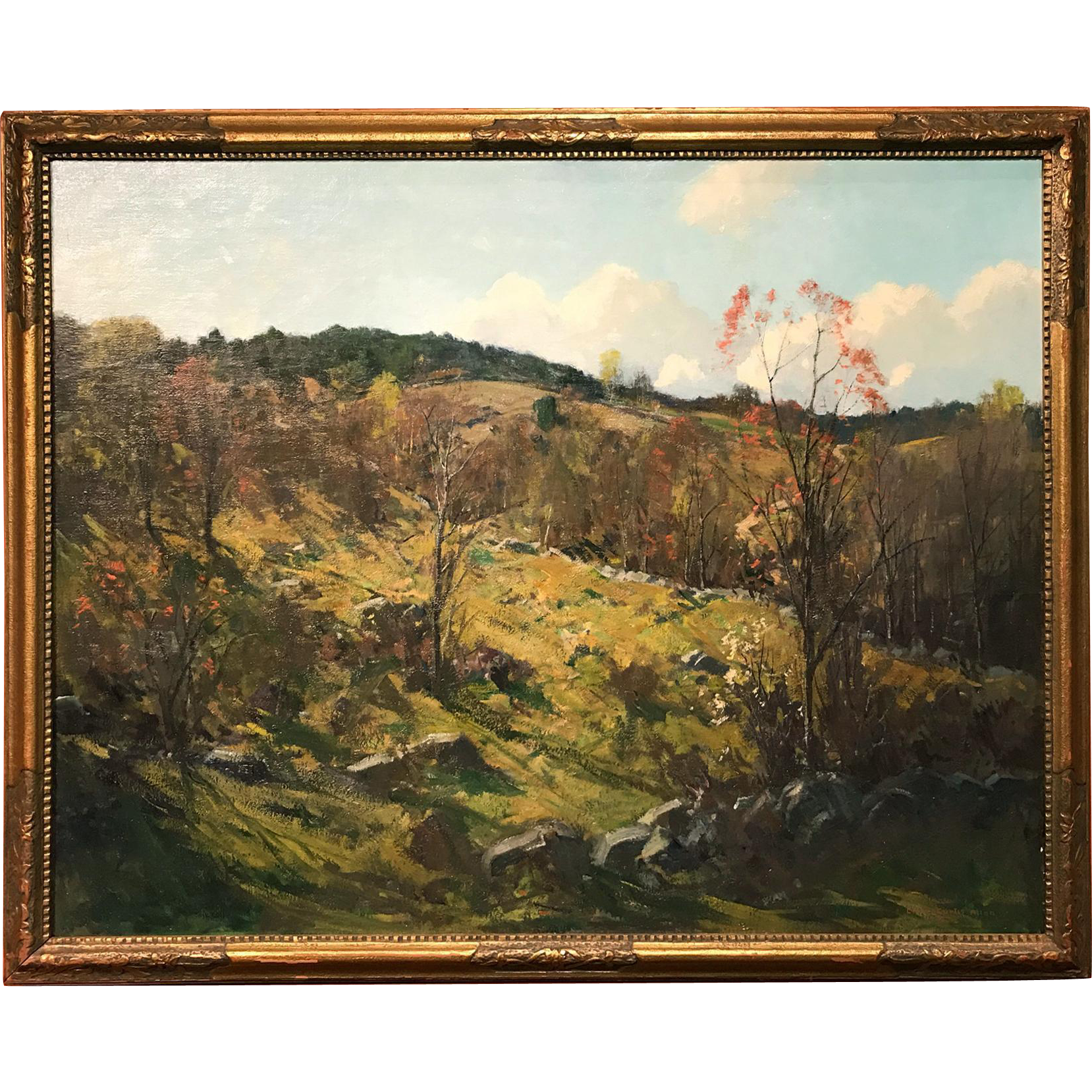 Charles Curtis Allen Oil Painting Autumn Landscape