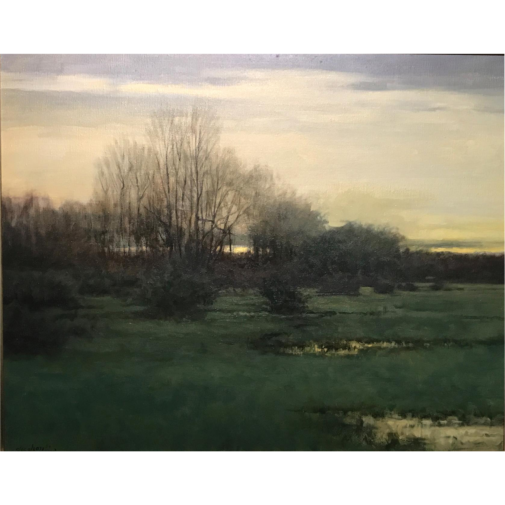 Dennis Sheehan Landscape Oil Painting - Almanac Pond, Nantucket MA 1994