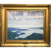 Allen Tucker Coastal Landscape Oil Painting - Mount Desert Island Maine 1914