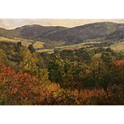 Harriet Randall Lumis Oil Painting - Autumn Landscape, Lenox MA