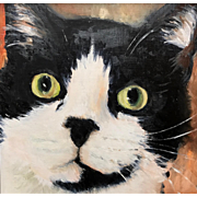 Aline Lotter Oil Painting Portrait of a Cat - Milo