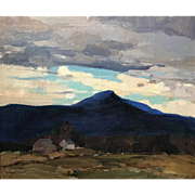 Chauncey Foster Ryder Landscape Oil Painting - possibly Mount Monadnock from Chesterfield, NH