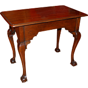 18th c PA or VA Carved Walnut Chippendale Center Table