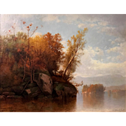James McDougal Hart Oil Painting - Hudson River Landscape