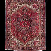20th Century Heriz Room Size Oriental Rug