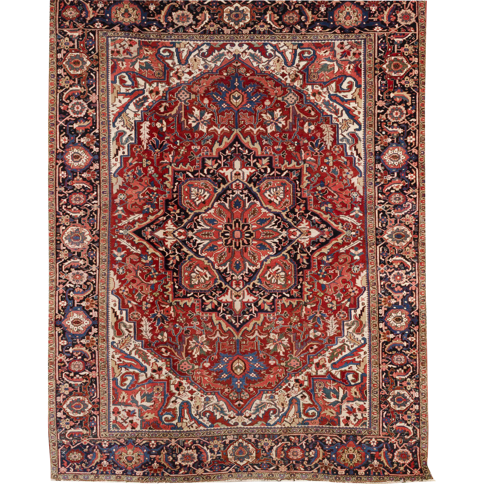 Exceptional 20th Century Heriz Room Size Oriental Rug