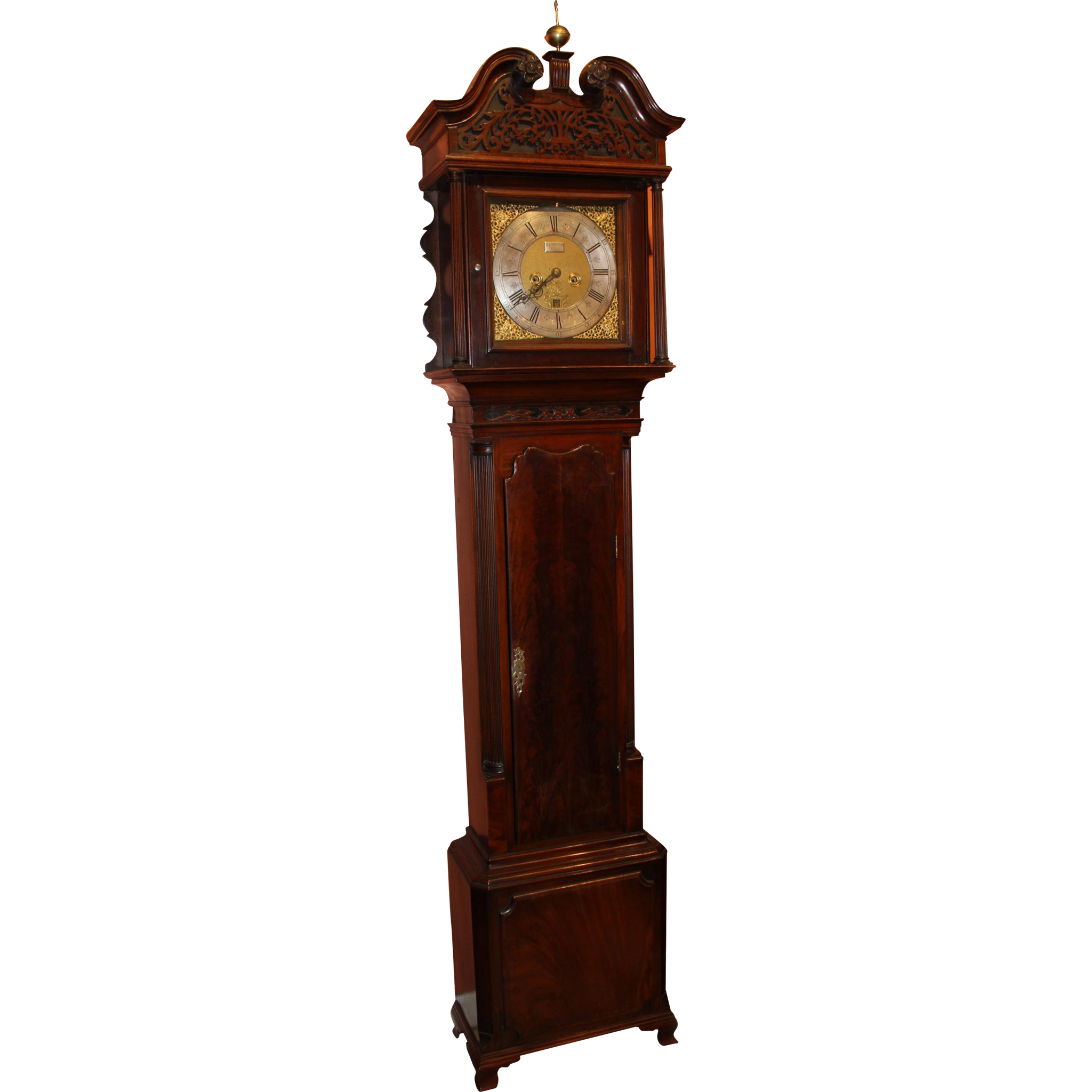 18th Century Georgian Mahogany Tall Case Clock, Signed Ralph Sherratt Tilley