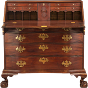 Chippendale Massachusetts Oxbow Desk, circa 1770