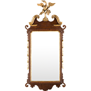 Chippendale Mahogany and Giltwood Constitution Mirror, circa 1770